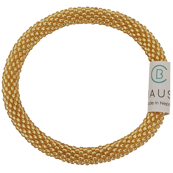 Light Gold Roll - On Bracelet