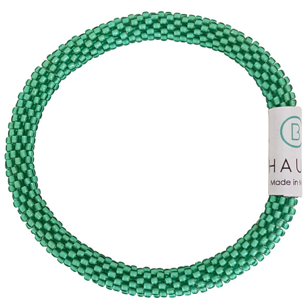 Peridot Frosted Roll - On Bracelet