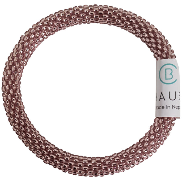 Light Amethyst Roll - On Bracelet