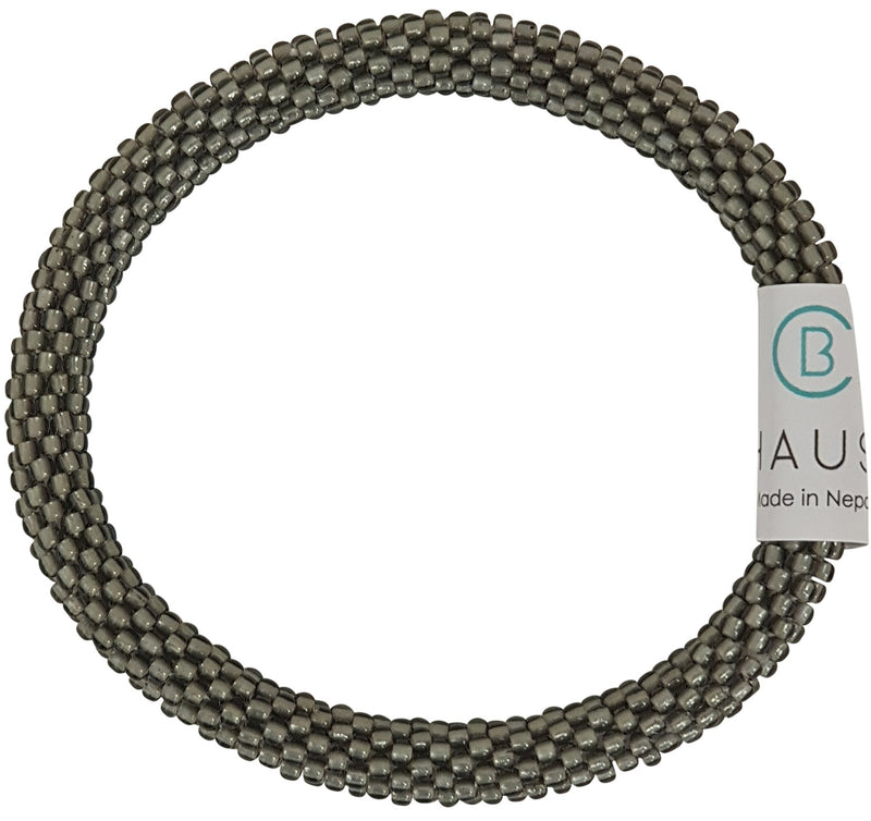 Frosted Grey Roll - On Bracelet - Chausie