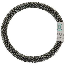 Silver Lined Grey Roll - On Bracelet - Chausie