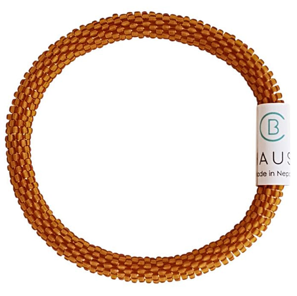 "Mens ""Matte Topaz"" Roll - On Bracelet"