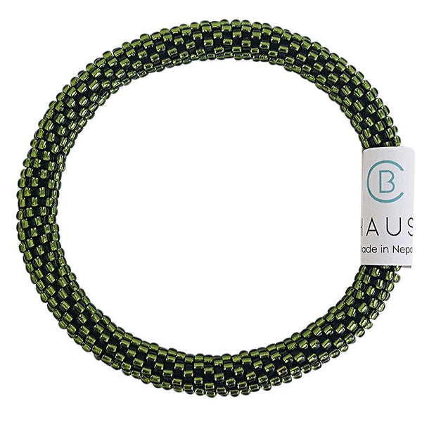 Silver - Lined Olivine Roll On Bracelet - Chausie
