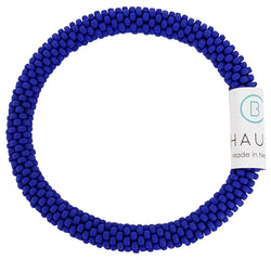 Opaque Frosted Navy Roll - On Bracelet - Chausie