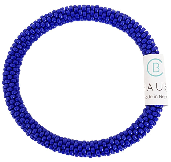 Opaque Navy Blue Roll - On Bracelet