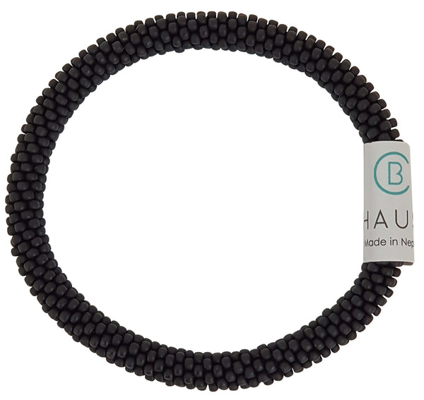 Black Matte Roll-  On Bracelet