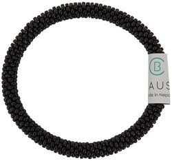 Jet Black Roll - On Bracelet - Chausie