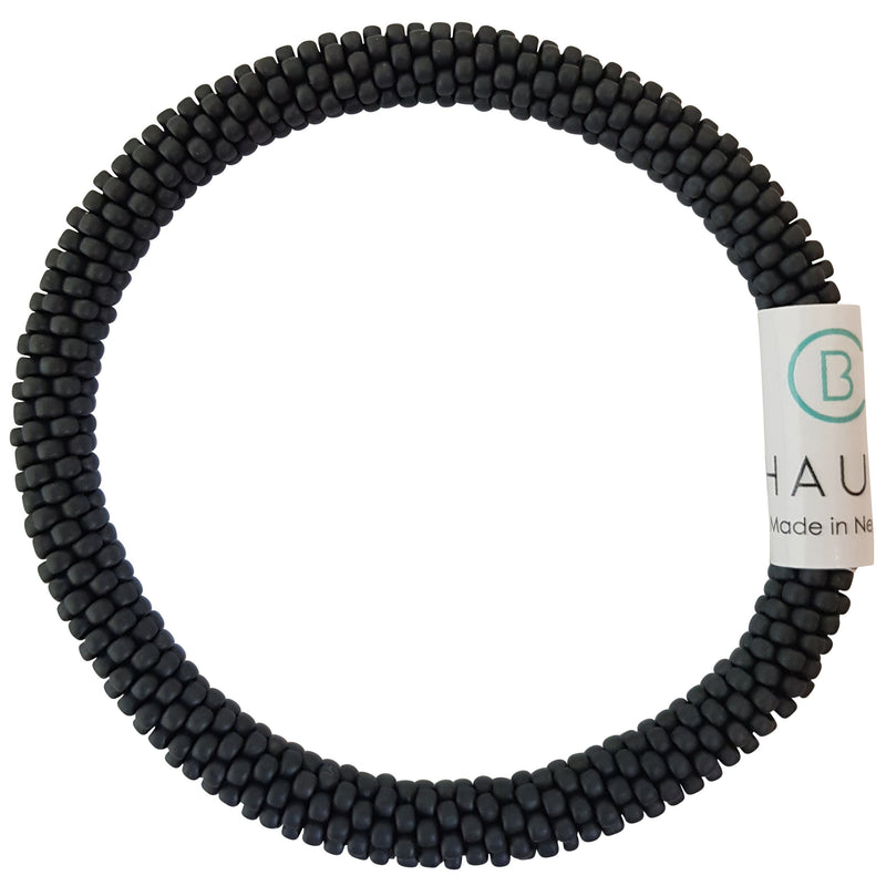 "Stack ""Midnight"" Roll - On Bracelet"
