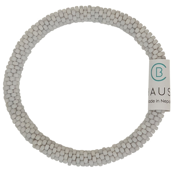 Frosted Light Grey Roll - On Bracelet