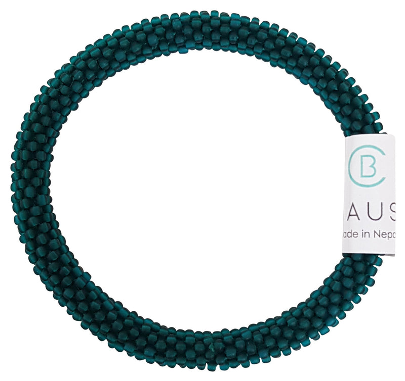 Teal Frosted Roll - On Bracelet - Chausie