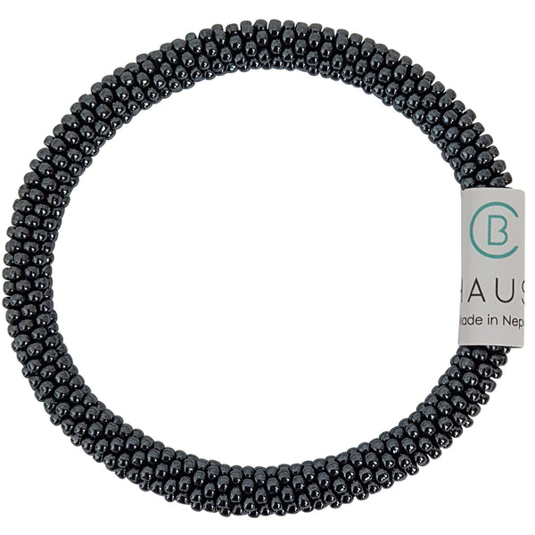 Hematite Roll - On Bracelet - Chausie