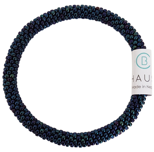 Metallic Blue Roll - On Bracelet - Chausie