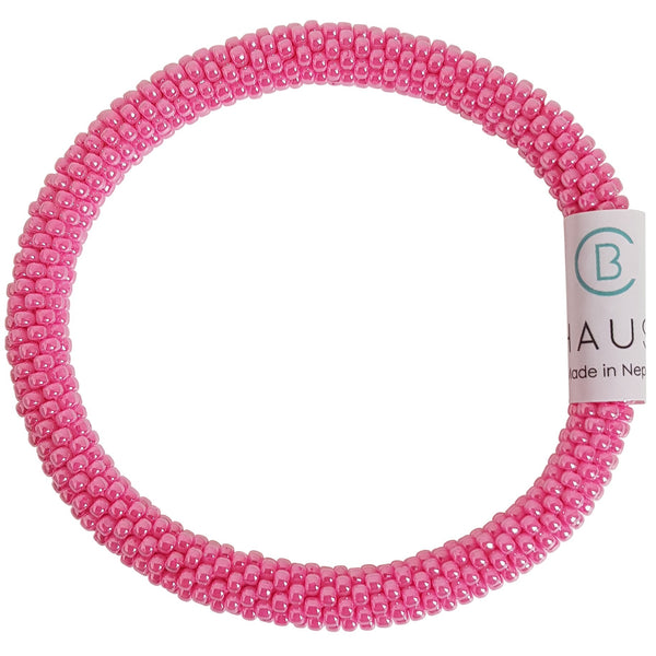 Ceylon Hot Pink Roll - On Bracelet - Chausie