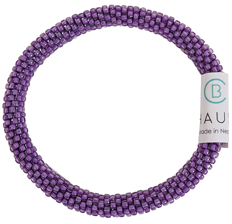 Dark Purple Wisteria Roll - On Bracelet - Chausie
