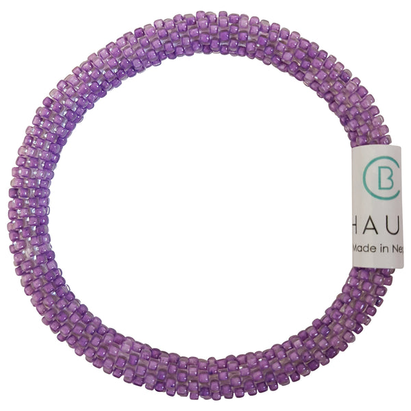 Purple Wisteria Roll - On Bracelet - Chausie