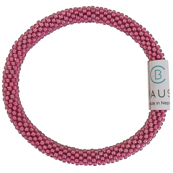 Light Amethyst Pink Roll - On Bracelet