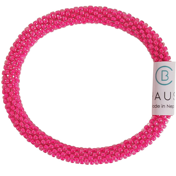 Neon Pink Gloss Roll - On Bracelet