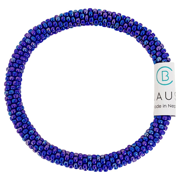 Rainbow Navy Blue Roll - On Bracelet - Chausie