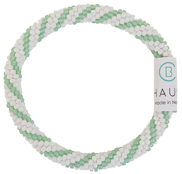 """Bailey"" Green Roll - On Bracelet"