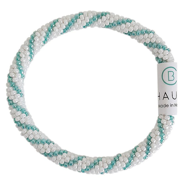 """Bailey"" Sea Green Roll - On Bracelet"