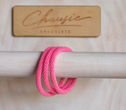 Ceylon Hot Pink Roll - On Bracelet