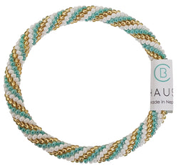 """Charlotte"" Green Roll - On Bracelet - Chausie"