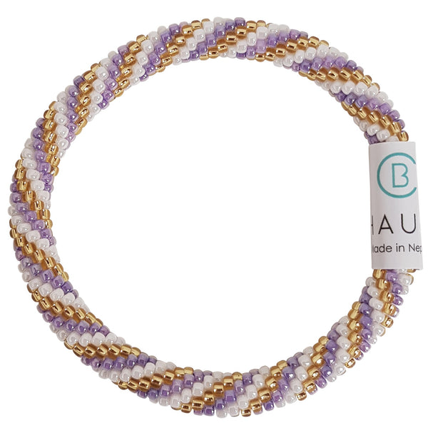 """Charlotte Gold/Purple"" Roll - On Bracelet"