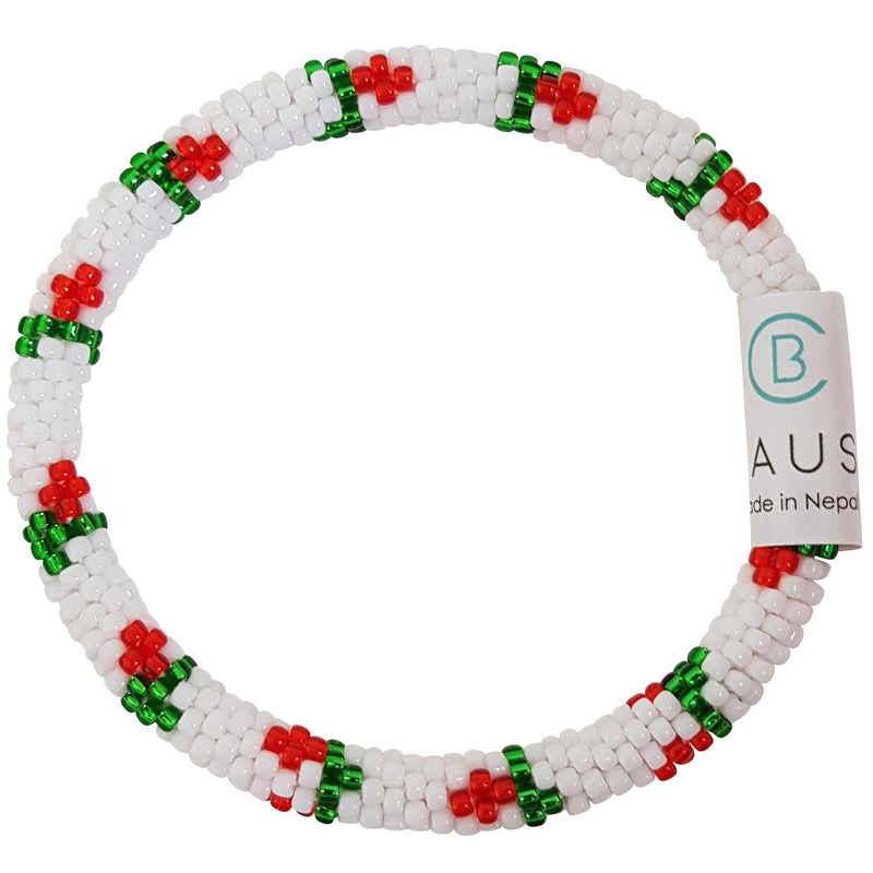 "Christmas ""Holly"" Roll - On Bracelet"
