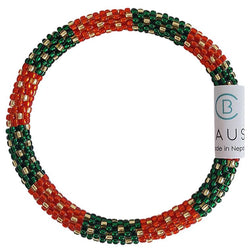 Christmas Wreath Roll - On Bracelet - Chausie