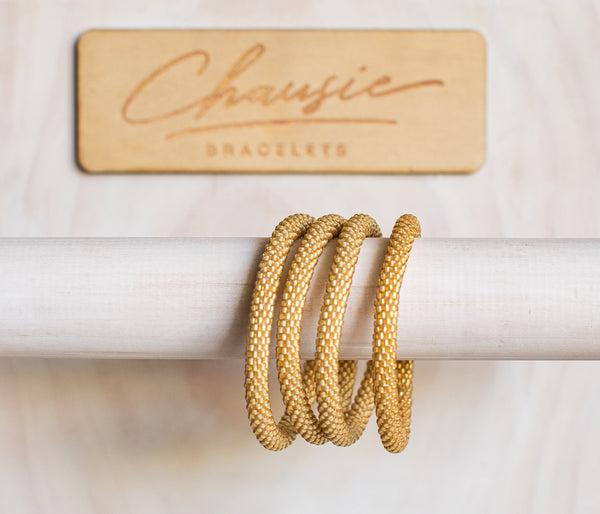 Frosted Gold Roll - On Bracelet