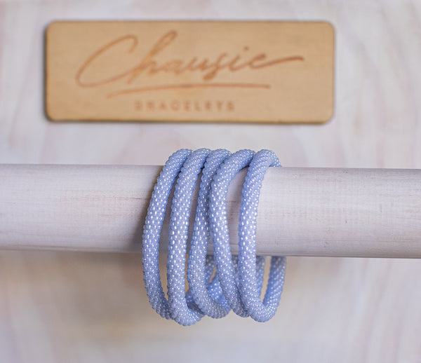 Glacier Blue Roll - On Bracelet
