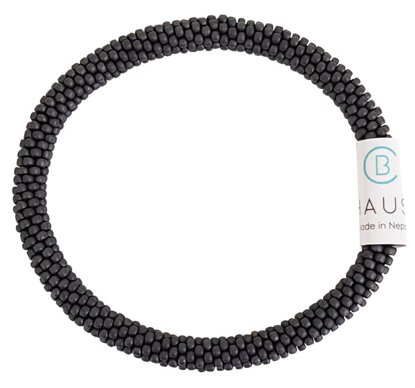 Chausie Man Matte Grey Roll - On Bracelet - Chausie