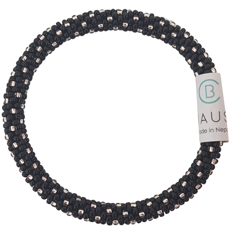 """Katie Rose Gold Black"" Roll - On Bracelet"