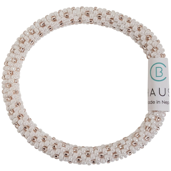 """Katie Rose Gold Frosted"" Roll - On Bracelet"
