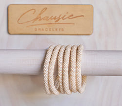Light Beige Roll - On Bracelet