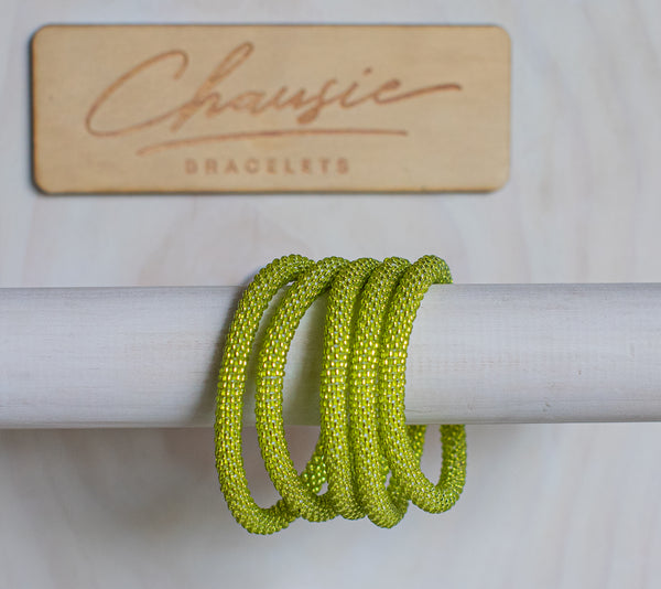 Lime Green Roll - On Bracelet