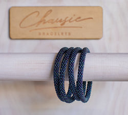 Metallic Cosmos Blue Roll - On Bracelet