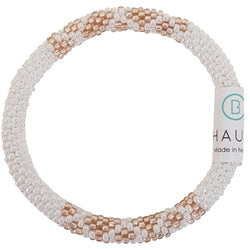 """Sarah"" Rose Gold Frosted Roll - On Bracelet - Chausie"
