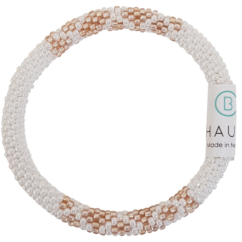 """Sarah Rose Gold Frosted"" Roll - On Bracelet"