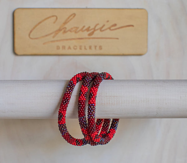 """Scarlett"" Roll - On Bracelet"