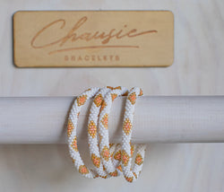 """Sofia Orange"" Roll - On Bracelet"