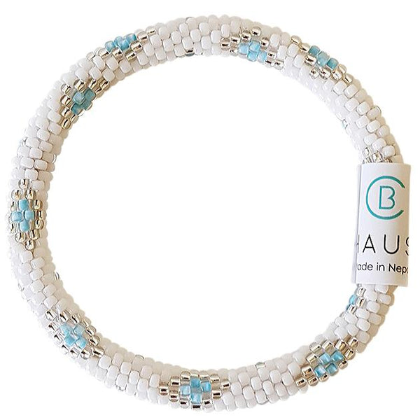 Sofia Silver/Light Blue Roll On Bracelet - Chausie