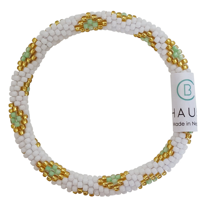 """Sofia Green"" Roll - On Bracelet"
