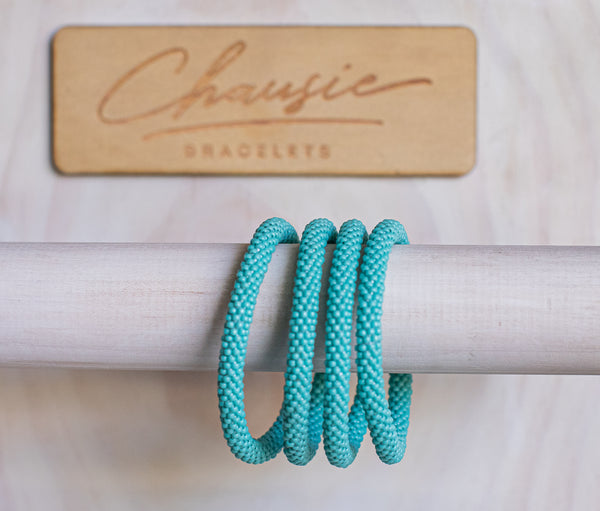Turquoise Blue Roll - On Bracelet