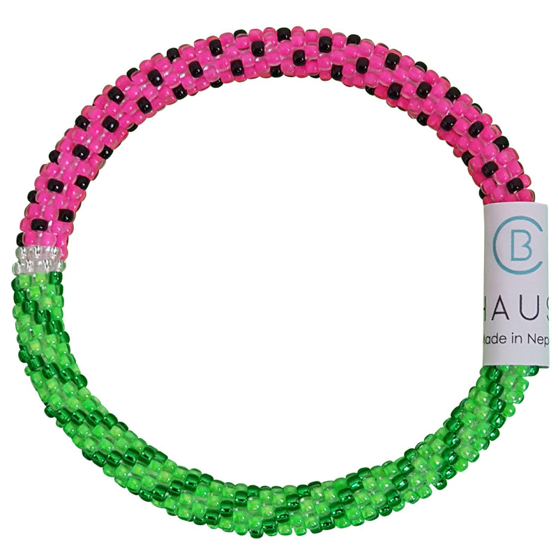 """Watermelon"" Roll - On Bracelet"