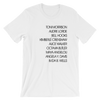 Writer Activist List Unisex T-Shirt