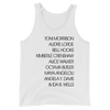 Writer Activist List Unisex  Tank Top