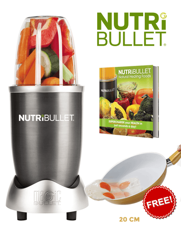 NutriBullet and Recipe Book Bundle with Free Cerafit 20cm Pan