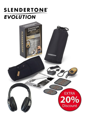 Slendertone Evolution with Wireless Headphone Bundle