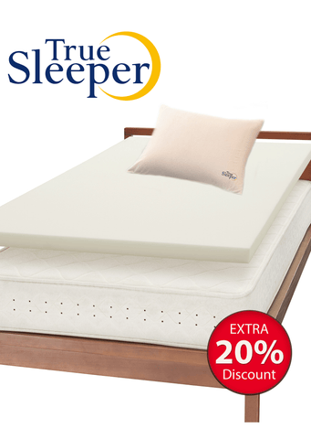 True Sleeper Premium Mattress with Angelfit Pillow Bundle